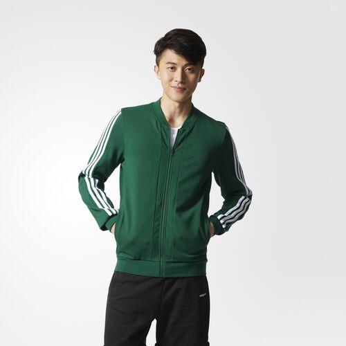adidas - 3-Stripes Track Jacket Dark Green  /  White BK6828