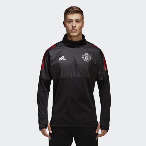 adidas - Manchester United Hybrid Top Black  /  Poppy BS4331