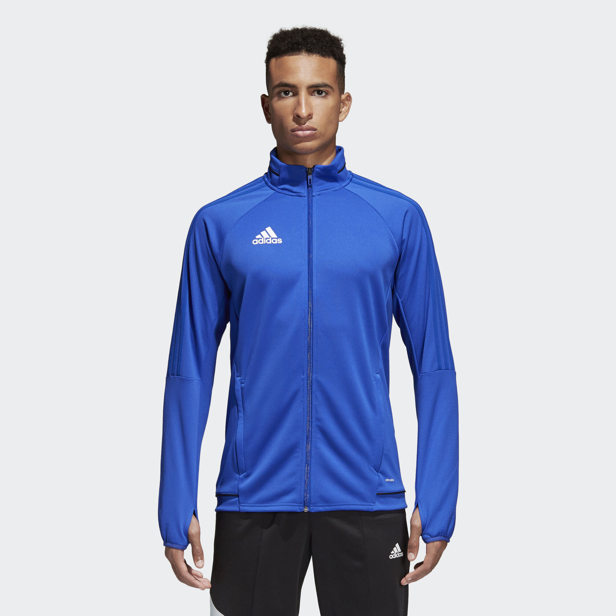 Mens jacket light blue - Adidas Tiro 17 Training Jacket Bold Blue Black White Bq8201