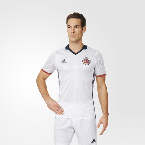adidas - Colombia Home Authentic Jersey White  /  Collegiate Navy  /  Poppy AC2842