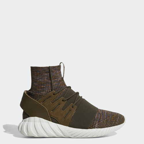 adidas - Tubular Doom Primeknit Shoes Trace Olvie  /  Mystery Brown  /  Crystal White BY3551