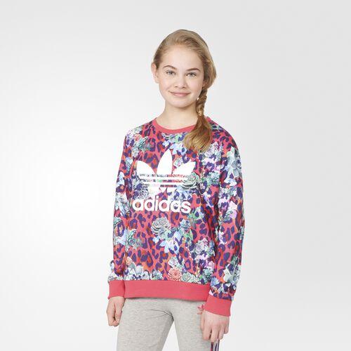 adidas - S Rose Crew Sweatshirt Multicolor  /  White S96102