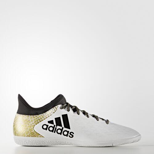 adidas - X 16.3 Indoor Shoes Running White Ftw  /  Black  /  Metallic Gold AQ4345