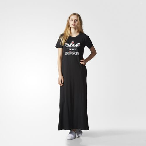 adidas - Long Tee Dress Black AY7949
