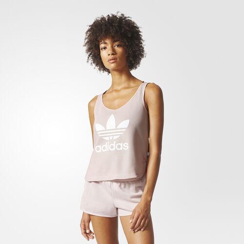 adidas - Trefoil Crop Tank Top Icey Pink BP9379