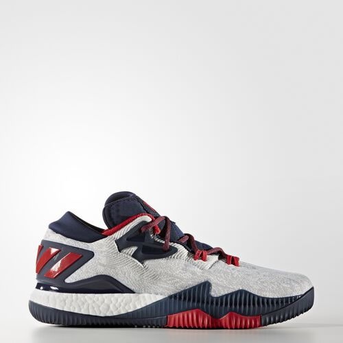 adidas - Crazylight Boost Low 2016 Shoes Running White Ftw  /  Scarlet  /  Collegiate Navy B49755