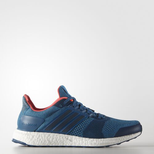 adidas - UltraBoost ST Shoes Unity Blue  /  Solar Red BB3932
