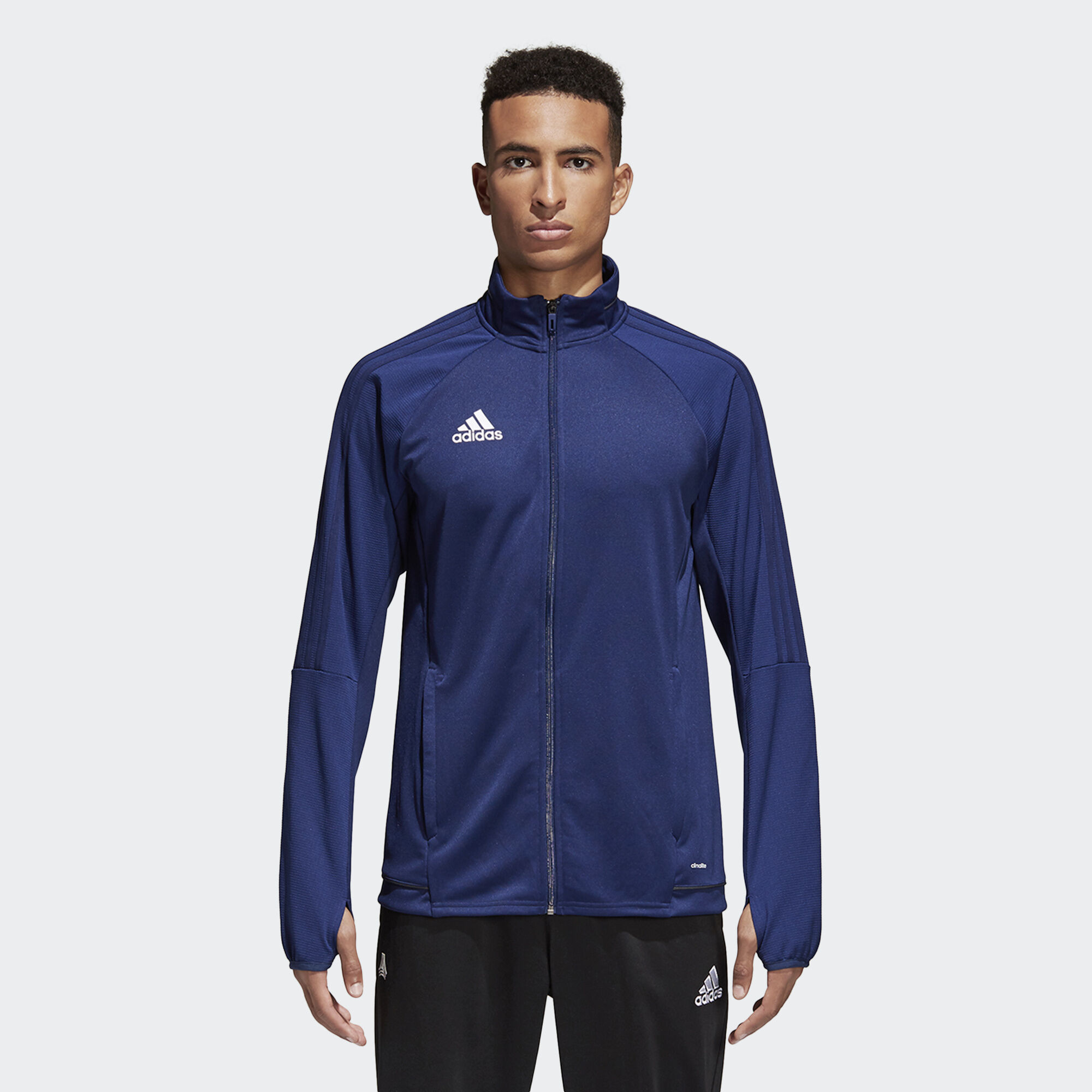 Adidas jacket - Adidas Tiro 17 Training Jacket Blue Dark Shale White Bq8199