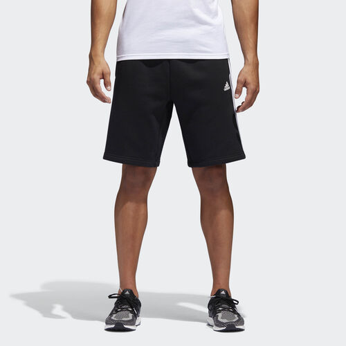 adidas - Essentials 3-Stripes Shorts Black  /  White BR3266