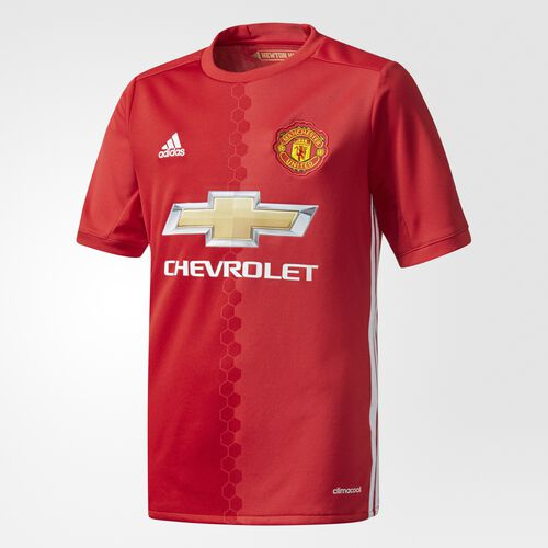 adidas - Manchester United FC Home Replica Jersey Real Red  /  University Red  /  White AI6716