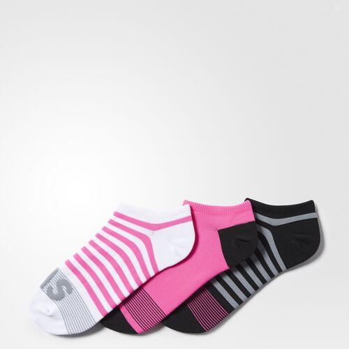 adidas - adistripe No-Show Socks 3 Pairs White BA1918