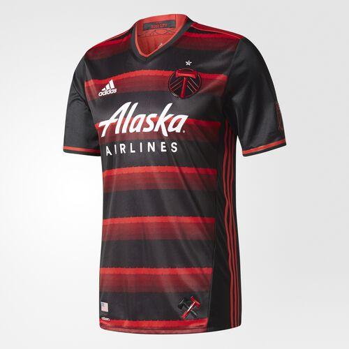 adidas - Timbers Away Authentic Jersey Dark Red  /  Black  /  Dark Red BQ3495