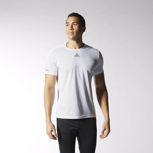 adidas - Sequencials Climalite Running Tee White S03010