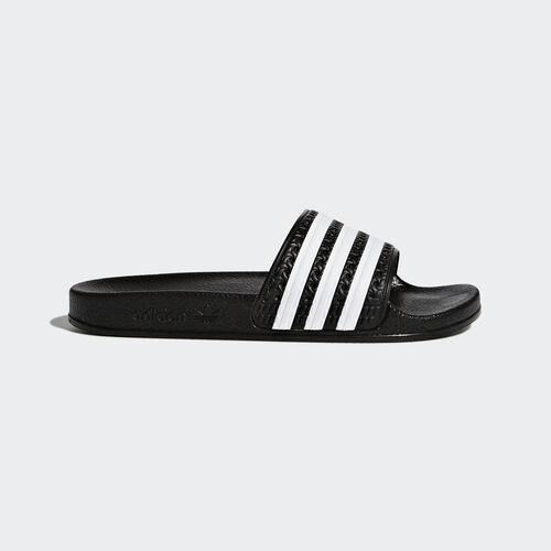 adidas - adilette Slides Core Black  /  Running White  /  Black BA7130