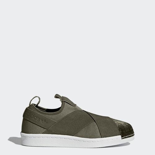 adidas - Superstar Slip-on Shoes Olive Cargo  /  Olive Cargo  /  Running White BZ0647