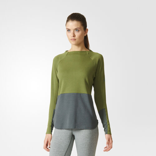 adidas - Climb the City Sweater Craft Green AP8772