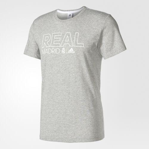 adidas - Real Madrid Cotton Tee Medium Grey Heather AZ3798