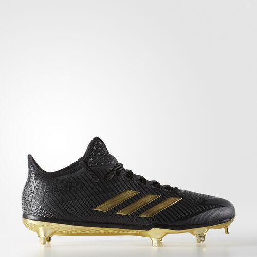 adidas - adizero Afterburner 4 Cleats Core Black  /  Metallic Gold  /  Neo Iron CG4786
