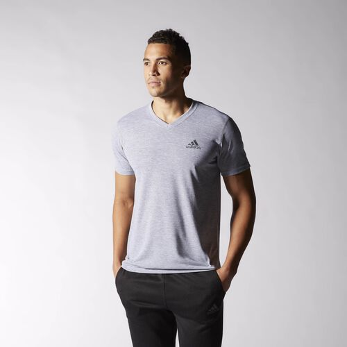 adidas - Ultimate V-neck Tee Medium Grey Heather  /  Solid Grey S10614