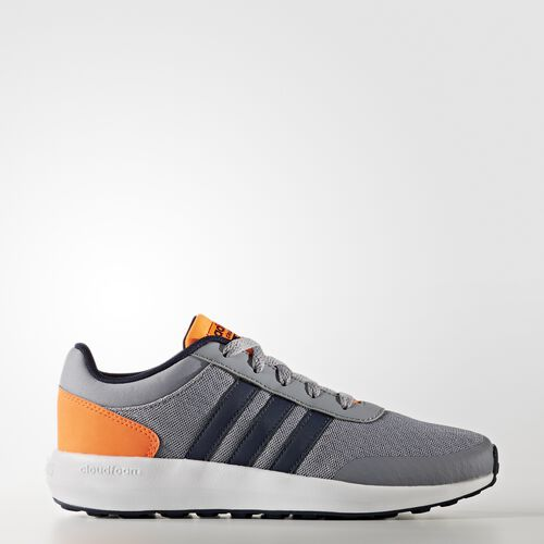 adidas - Cloudfoam Race Shoes Grey  /  Collegiate Navy  /  Warning AW4040