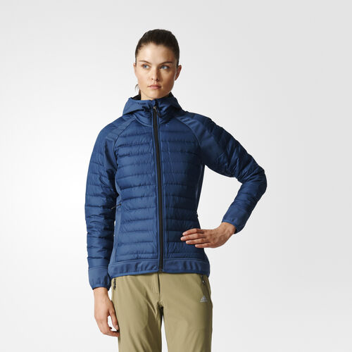 adidas - Hybrid Down Hooded Jacket Mineral Blue AZ6266