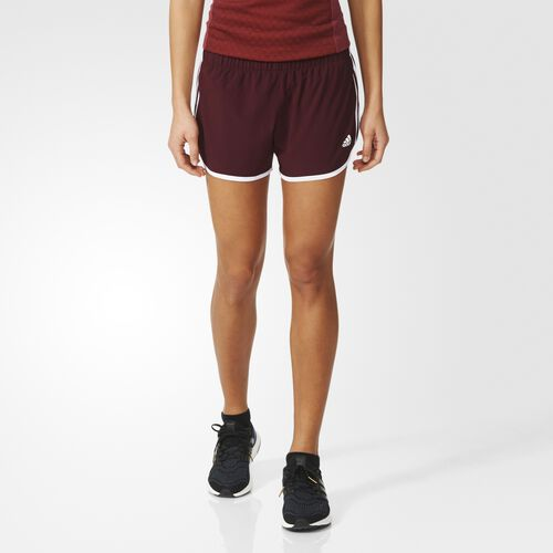 adidas - M10 3-Stripes Shorts Maroon  /  White AZ0772