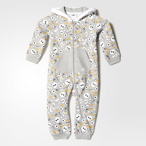adidas - Disney Olaf Jumpsuit Medium Grey Heather  /  White AY6043