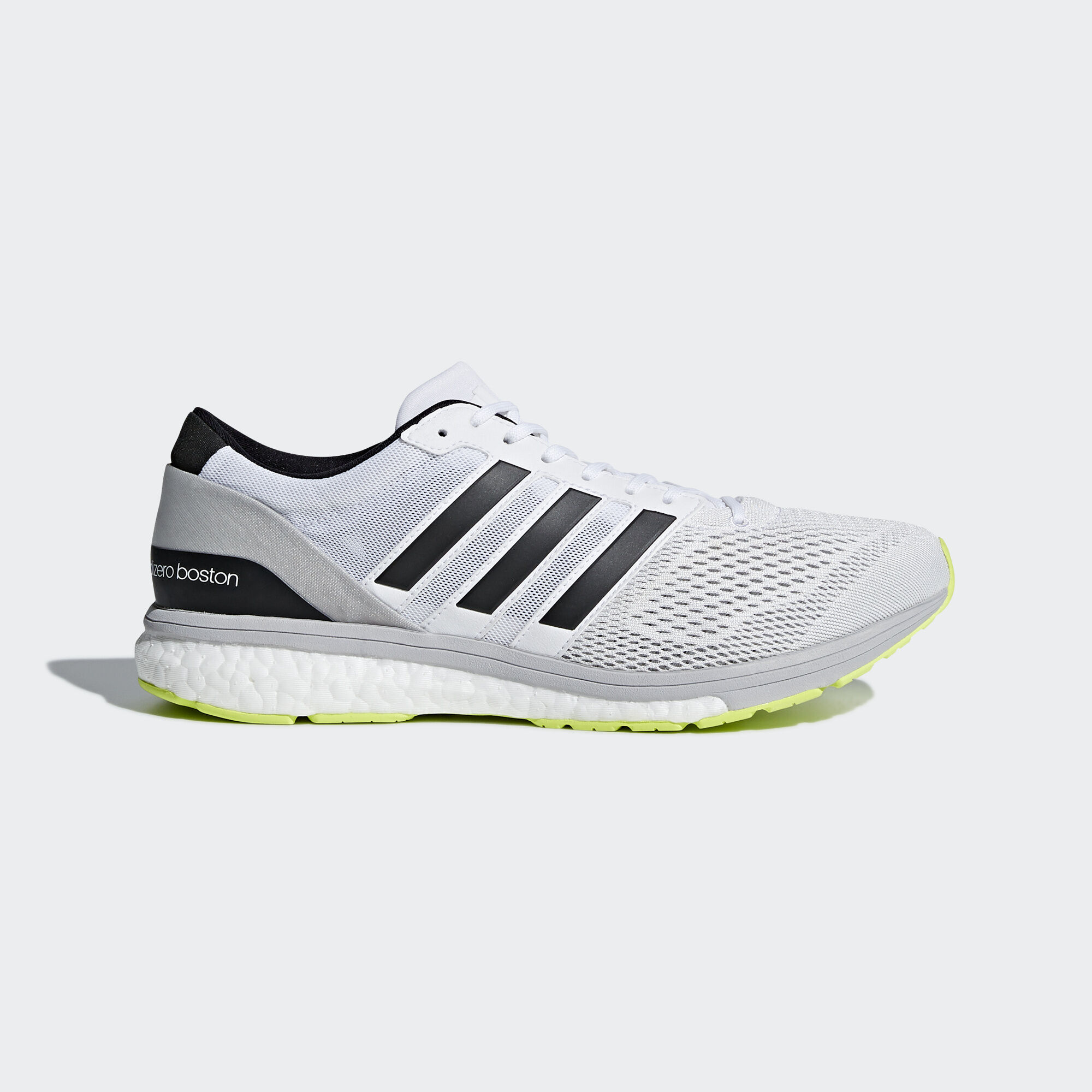 wholesale dealer 846dd b629e ... low cost adidas adizero boston 6 shoes running white silver metallic  solar yellow cg3142 343b6 ed3eb
