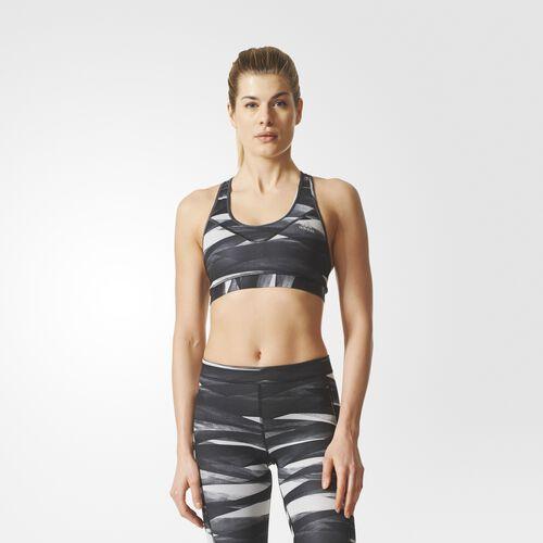 adidas - Techfit Print Bra Black  /  Black BQ7112
