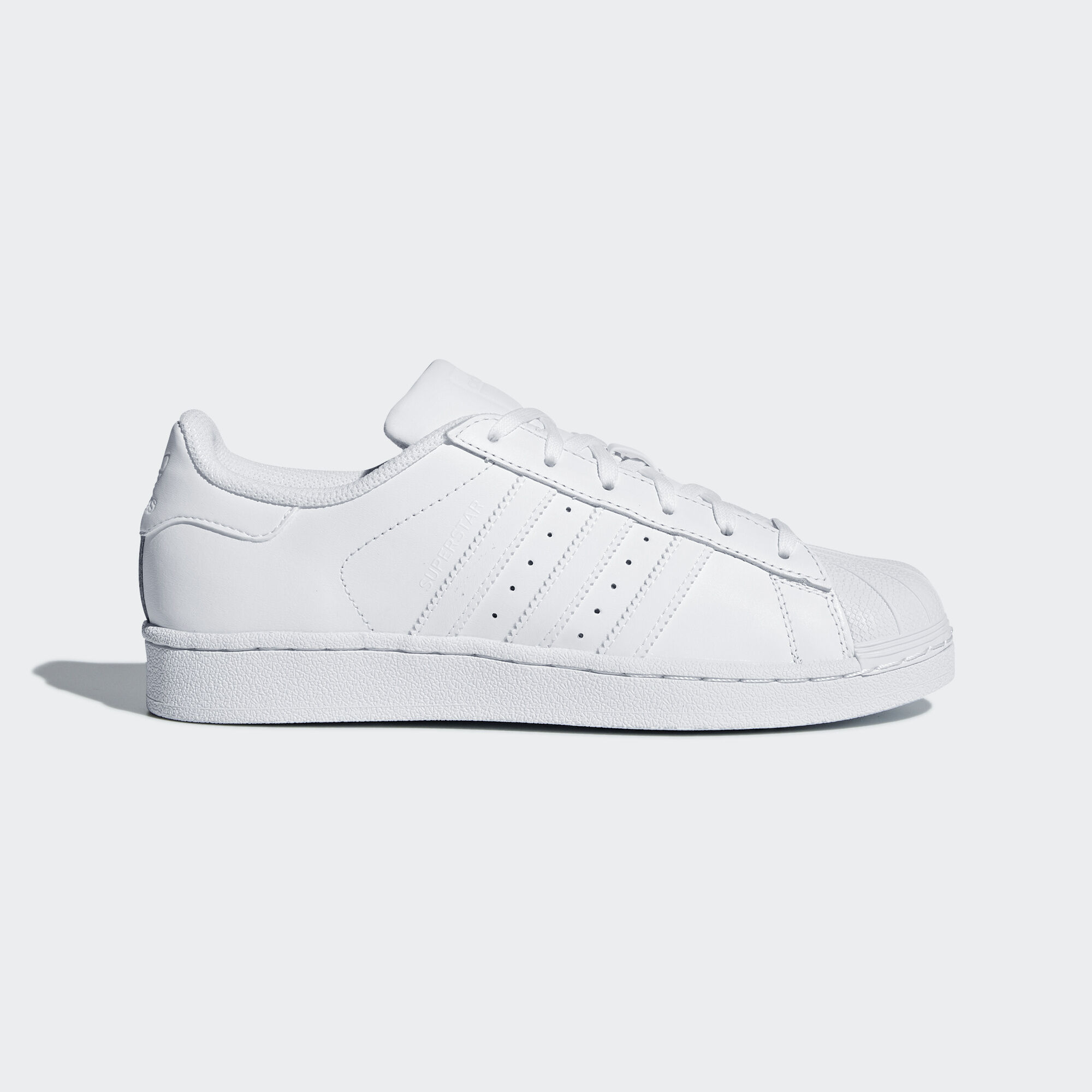 Womens White & Black Adidas Superstar Trainers schuh