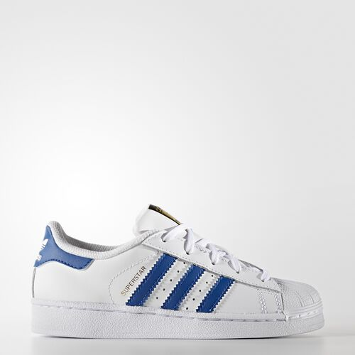 adidas - Superstar Foundation Shoes Running White Ftw  /  Blue  /  Running White Ftw BA8383