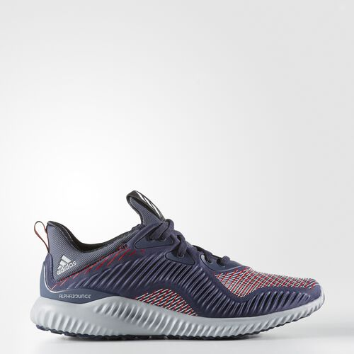 adidas - alphabounce Haptic Shoes Midnight Grey  /  Running White Ftw  /  Core Red BB9051