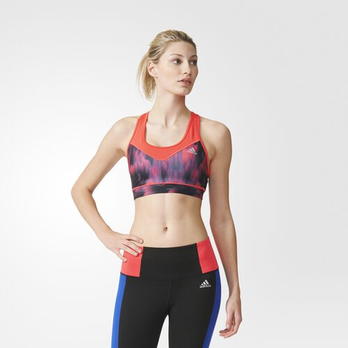 adidas - Techfit Northern Lights Bra Shock Red  /  Black  /  Matte Silver AY3981