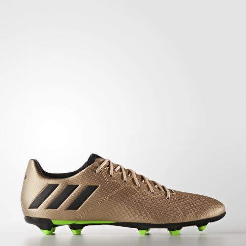 adidas - Messi 16.3 Firm Ground Cleats Copper Metalic  /  Black  /  Neon Green BA9838