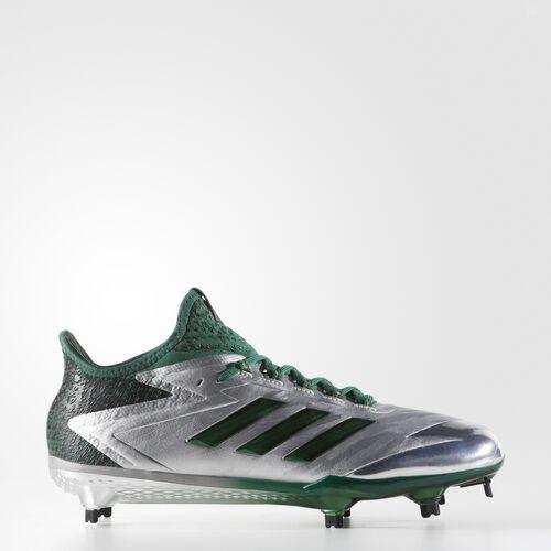 adidas - adizero Afterburner 4 Faded Cleats Silver Metallic  /  Dark Green  /  Black BY4116