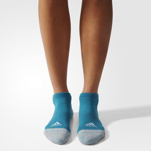 adidas - Running Energy No-Show Socks 1 Pair Energy Blue  /  Medium Grey Heather  /  White S96273