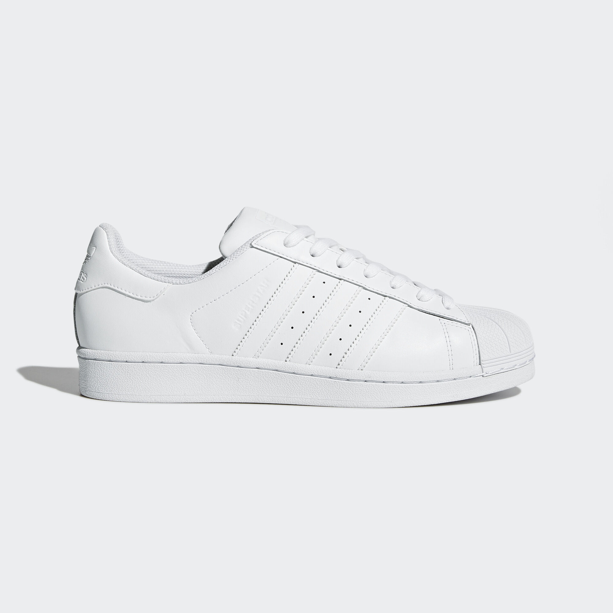all white adidas superstar