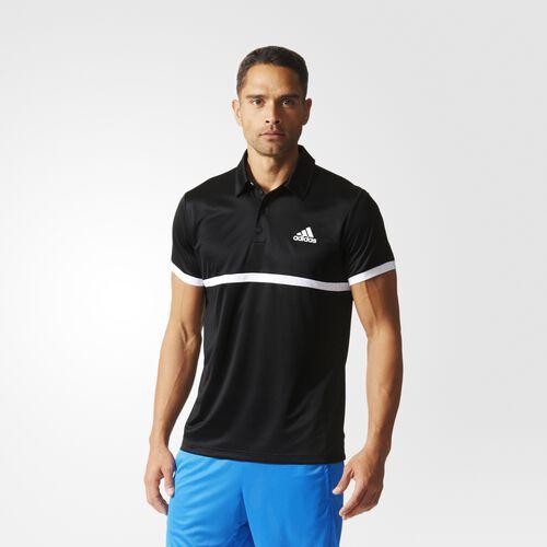 adidas - Court Polo Shirt Black  /  White AJ7017