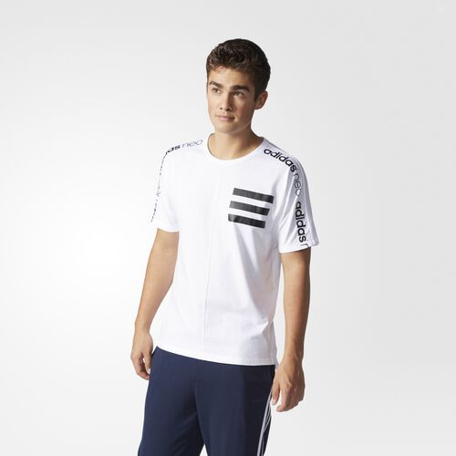 adidas - Moto Graphic Tee White  /  Black AY5719