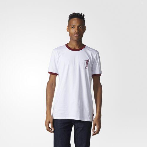 adidas - Magenta Tee White  /  Collegiate Burgundy CF0988