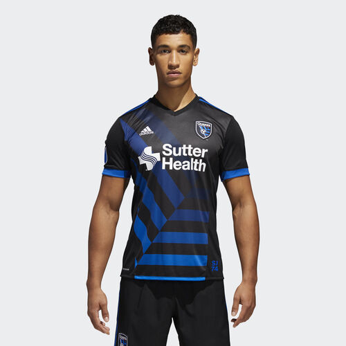 adidas - Earthquakes Home Replica Jersey Black  /  Master Blue AY6402