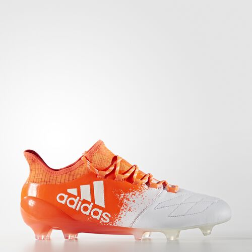 adidas - X 16.1 Leather Firm Ground Cleats Running White Ftw  /  Running White  /  Infrared BB3810