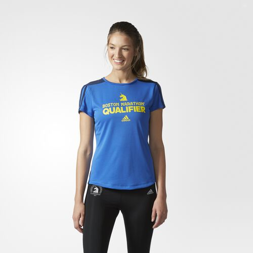 adidas - Boston Marathon® Qualifier Tee Blue  /  Collegiate Navy BJ9222