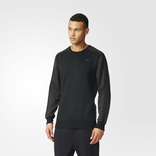 adidas - Sport Essentials 3-Stripes Crew Sweatshirt Black  /  Black Vis Mel AY5470