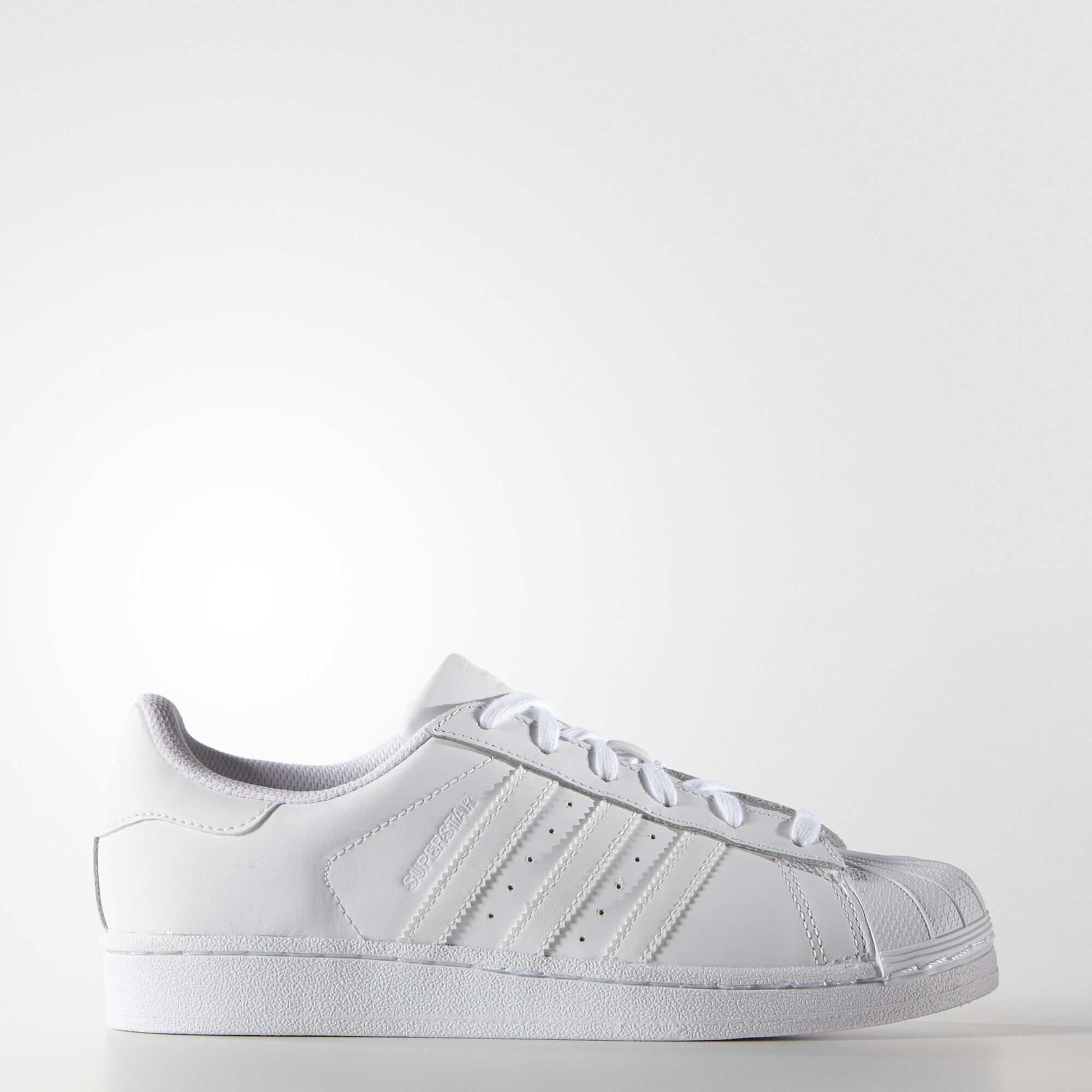 adidas plain white trainers for girls