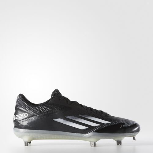 adidas - adizero Afterburner 2.0 Cleats Core Black  /  Tech Grey Metallic  /  Running White S84697