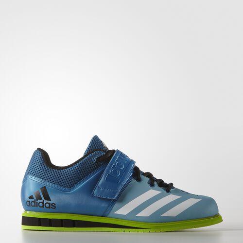 adidas - Powerlift.3 Shoes Unity Blue  /  Running White  /  Semi Solar Green AQ3331