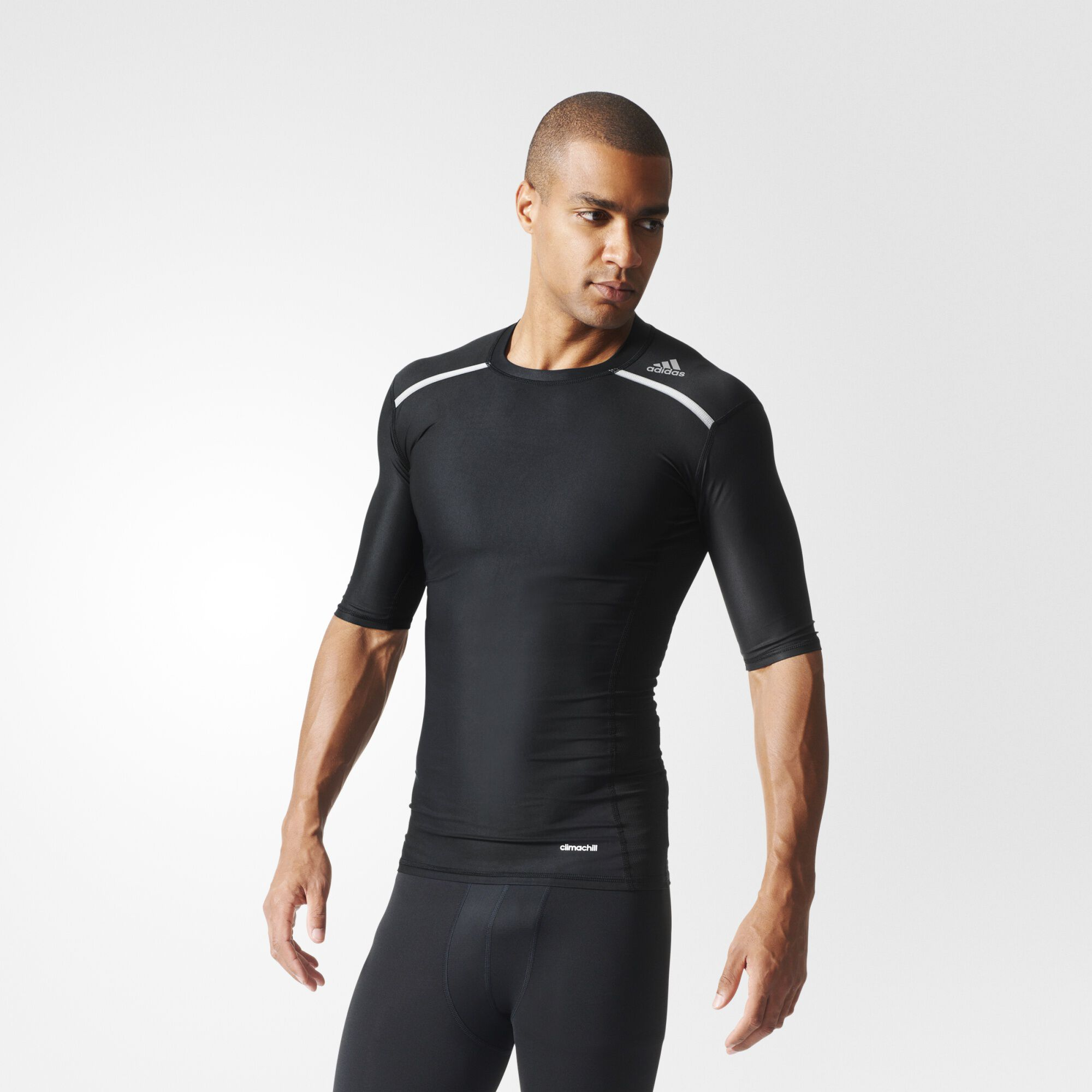 adidas Techfit Chill Tee - Black | adidas US
