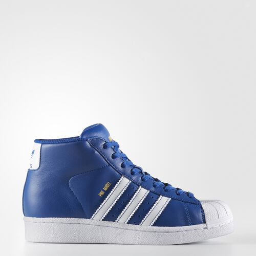 adidas - Pro Model Shoes Collegiate Royal  /  Running White  /  Metallic Gold BY3731