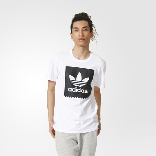 adidas - Blackbird Logo Fill Tee White  /  Black AY8899